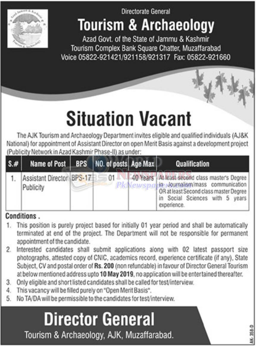 Tourism and Archaeology Department Jobs