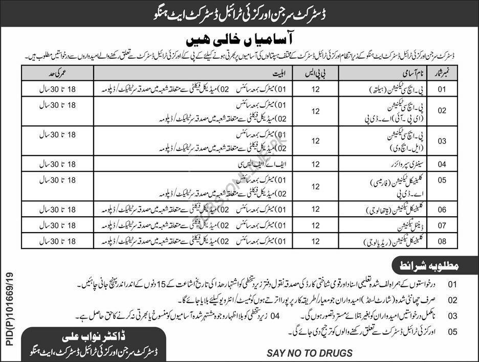 District Health Department Hangu Jobs