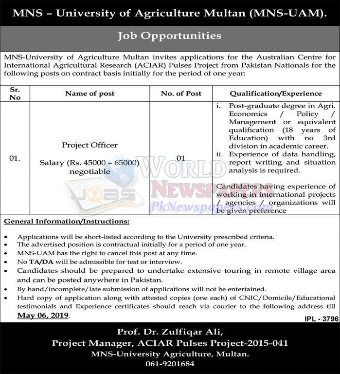 Jobs in Mohammad Nawaz Sharif University
