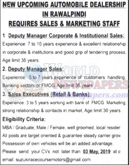 Jobs For Sales Marketing Staff